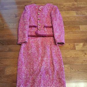 J. Crew two pieces wool tweed jacket skirt set 00